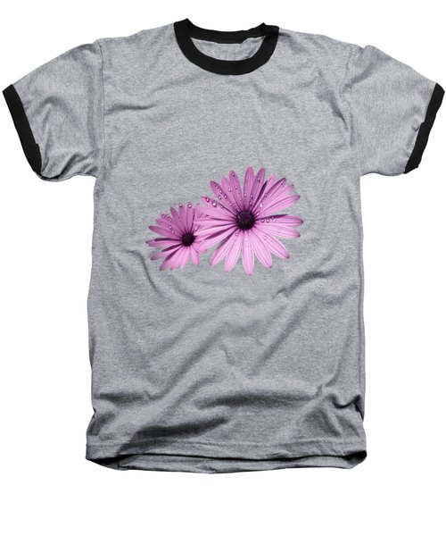Dew Drops On Daisies Baseball T-Shirt