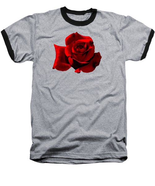 Baseball T-Shirt featuring the photograph Simply Red Rose by Phyllis Denton