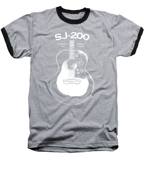 Gibson Sj-200 1948 Baseball T-Shirt by Mark Rogan