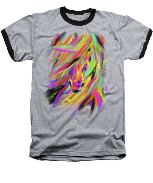 Horse Rainbow Hair Baseball T-Shirt
