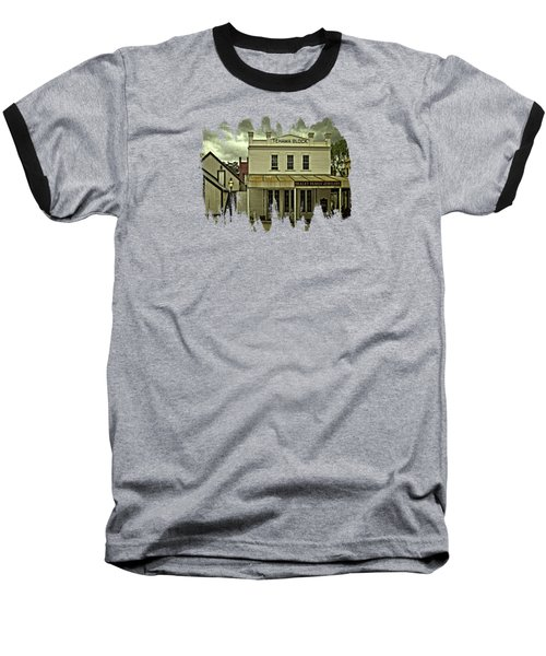 The Eagle Theater And Skalet Family Jewelers Old Sacramento Baseball T-Shirt by Thom Zehrfeld