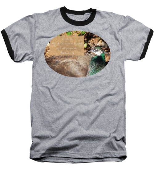 Place Of Rest With Verse Baseball T-Shirt by Anita Faye