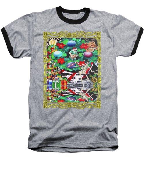Christmas On The Moon Baseball T-Shirt