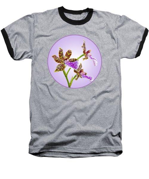 Bold And Beautiful - Zygopetalum Orchid Baseball T-Shirt by Gill Billington
