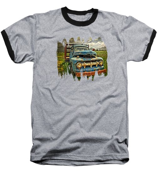 The Blue Classic Ford Truck Baseball T-Shirt