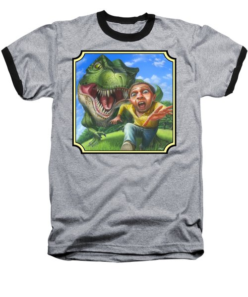 Tyrannosaurus Rex Jurassic Park Dinosaur - T Rex - T Rex - Extinct Predator - Square Format Baseball T-Shirt
