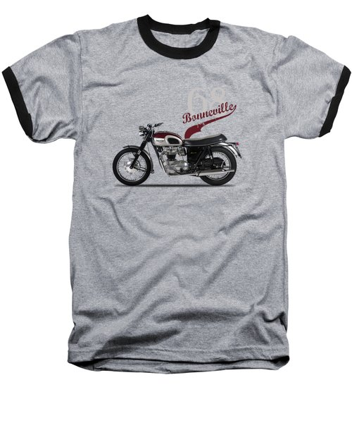Triumph Bonneville T120 1968 Baseball T-Shirt by Mark Rogan
