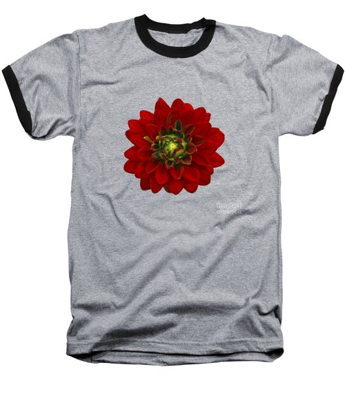 Baseball T-Shirt featuring the photograph Red Dahlia by Michael Peychich