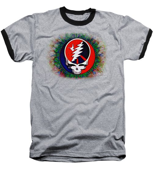 Baseball T-Shirt featuring the painting Grateful Dead by Bill Cannon