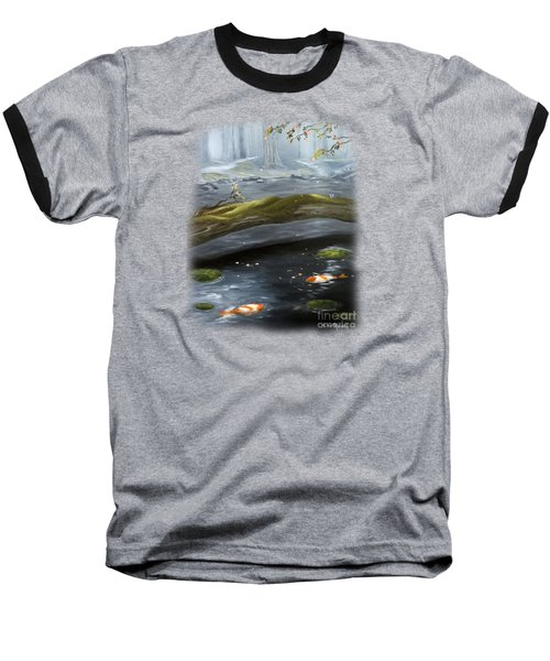 The Wishing Pond  Baseball T-Shirt by Susan  Rossell