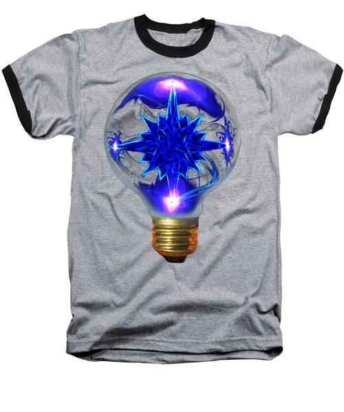 A Bright Idea Baseball T-Shirt by Shane Bechler