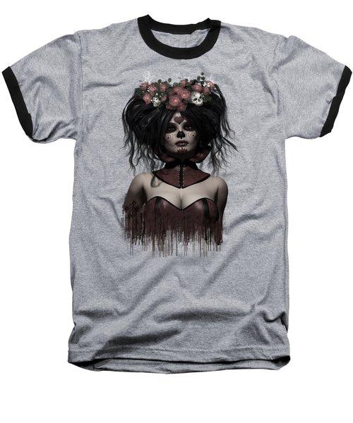 La Catrina Baseball T-Shirt by Shanina Conway