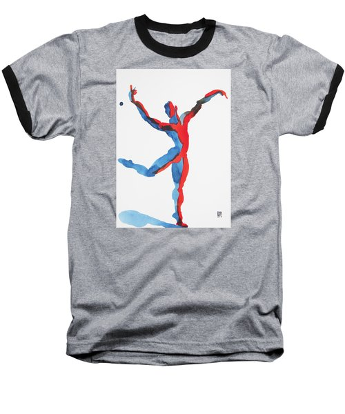 Baseball T-Shirt featuring the painting Ballet Dancer 3 Gesturing by Shungaboy X