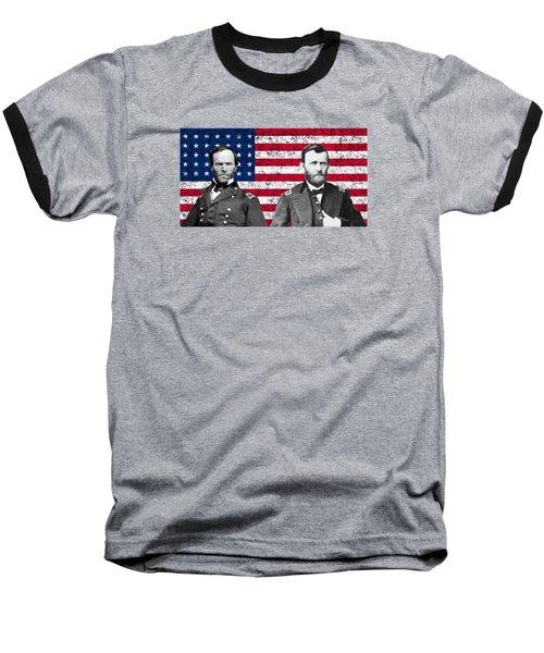 Generals Sherman And Grant  Baseball T-Shirt