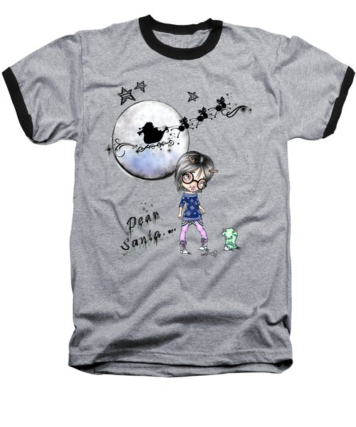 Tilly And Sprite Play Reindeers Baseball T-Shirt by Lizzy Love