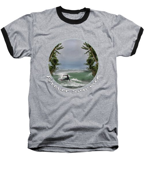 Baseball T-Shirt featuring the photograph Forever Summer 2 by Linda Lees
