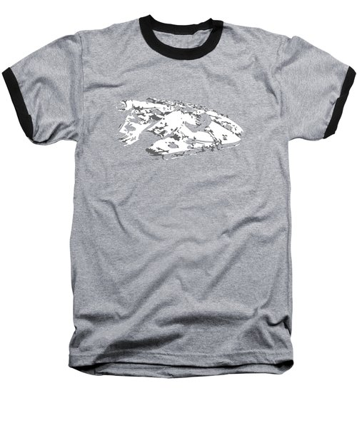 The Falcon In The Shadows Baseball T-Shirt by Ian King