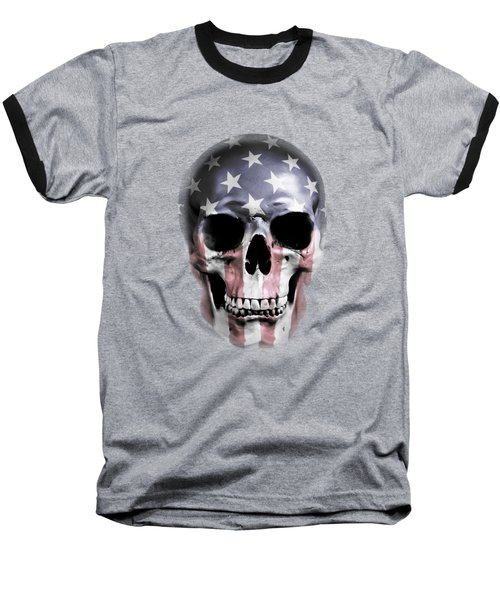 Baseball T-Shirt featuring the digital art American Skull by Nicklas Gustafsson