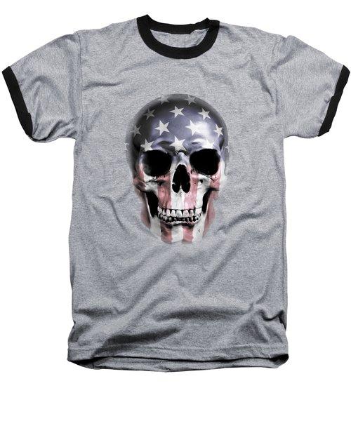 American Skull Baseball T-Shirt