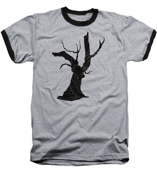 Abstract Gnarly Tree Baseball T-Shirt