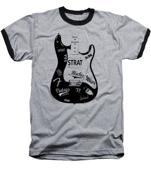 Fender Stratocaster Blackie 77 Baseball T-Shirt