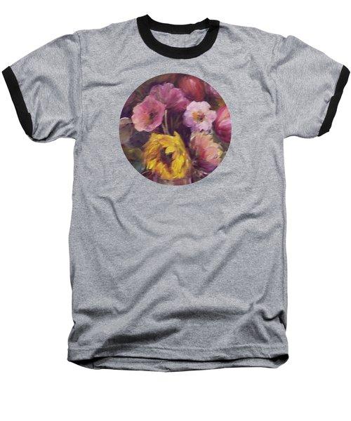 Abundance- Floral Painting Baseball T-Shirt