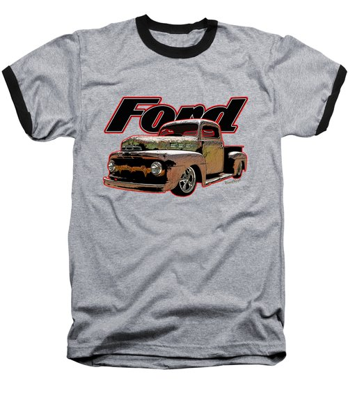 Beach Rat Rod Pickup Working On Its Patina Baseball T-Shirt