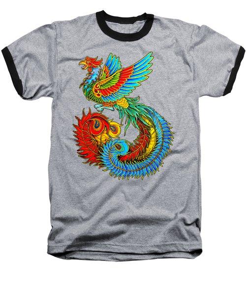 Fenghuang Chinese Phoenix Baseball T-Shirt