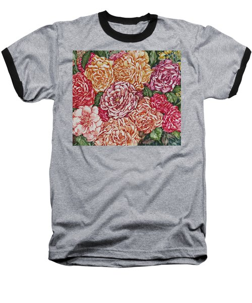 Flowers And Fruit Arrangement Baseball T-Shirt