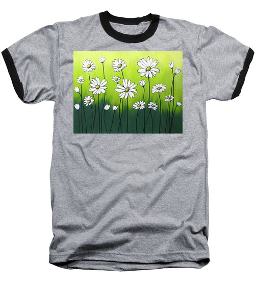 Daisy Crazy Baseball T-Shirt by Teresa Wing