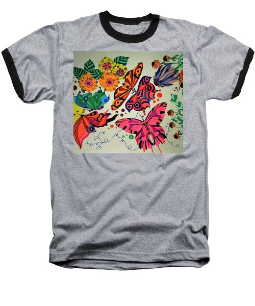 Eyes Of The Butterflies Baseball T-Shirt
