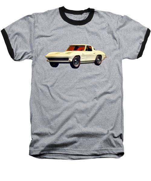 1963 Corvette 2nd Generation Baseball T-Shirt