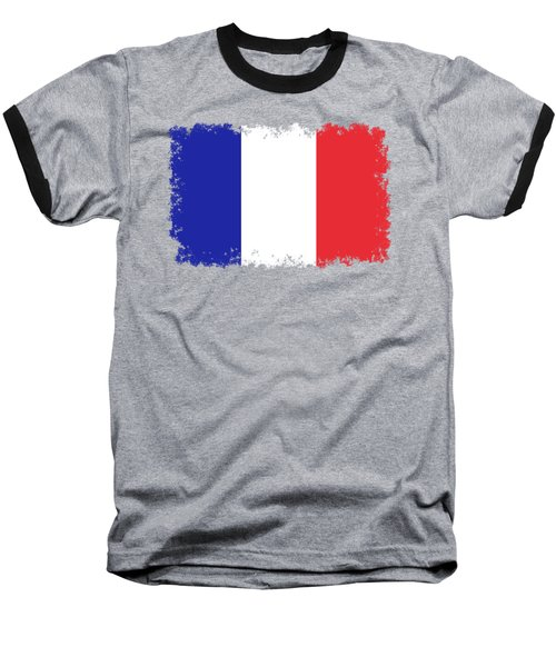 Flag Of France High Quality Authentic Image Baseball T-Shirt by Bruce Stanfield