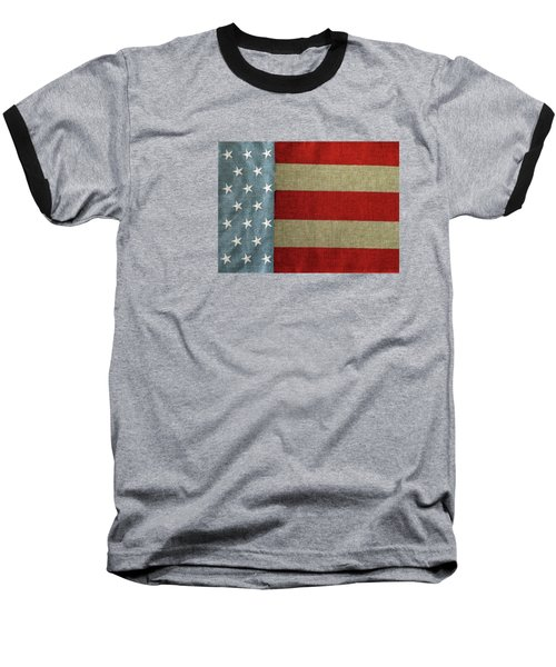 The Flag Baseball T-Shirt by Tom Prendergast