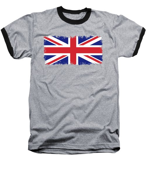 Union Jack Ensign Flag 1x2 Scale Baseball T-Shirt by Bruce Stanfield