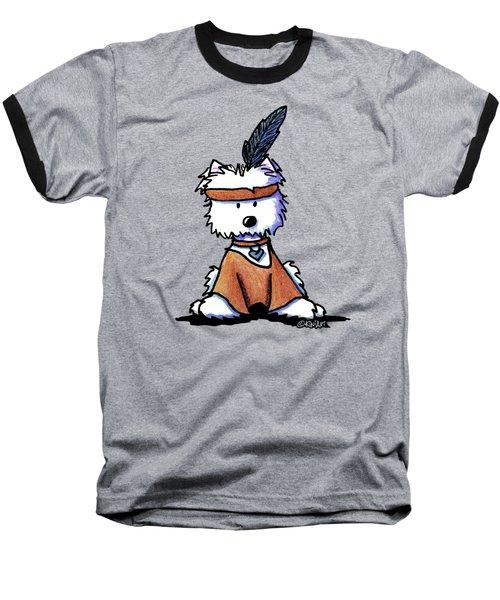 Westie Pocahontas Baseball T-Shirt