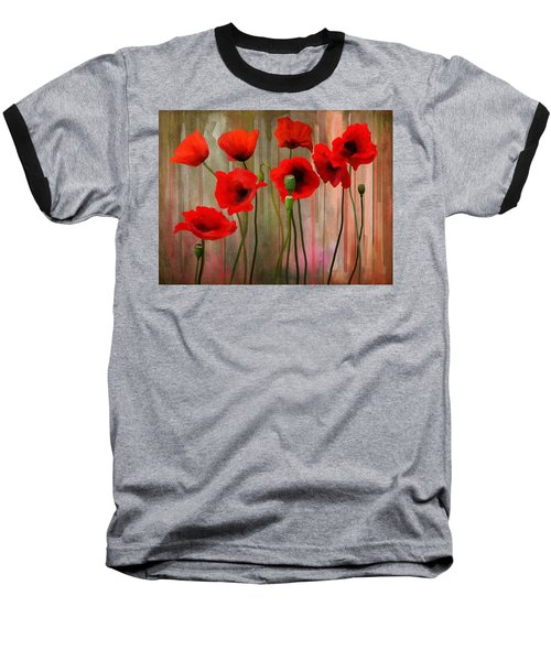 Baseball T-Shirt featuring the painting Poppies  by Ivana Westin