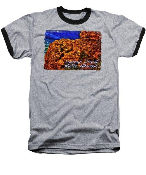 Navajo Sandstone And Cirrus Clouds Baseball T-Shirt