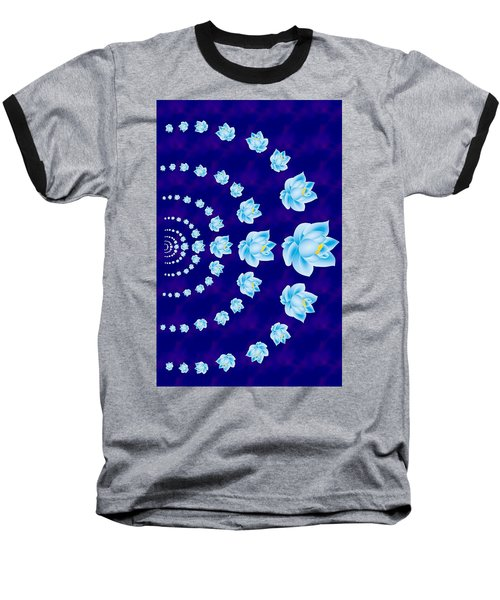 Blue Lotus Tunnel Baseball T-Shirt