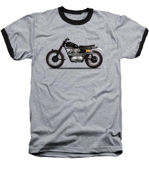 The Steve Mcqueen Desert Racer Baseball T-Shirt by Mark Rogan