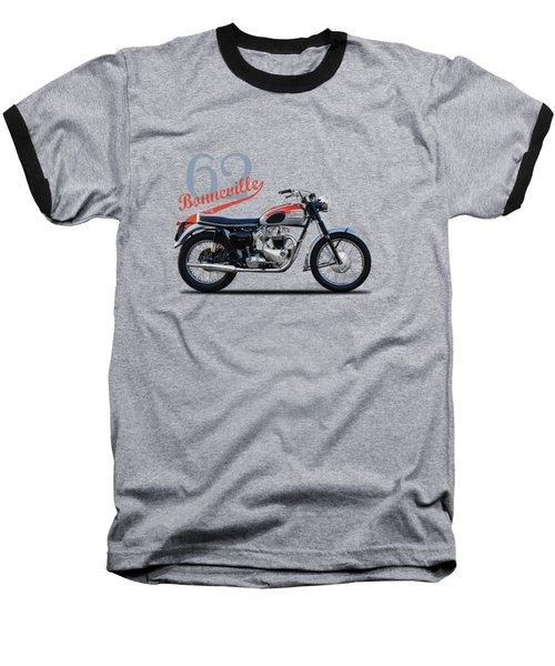 Bonneville T120 1962 Baseball T-Shirt by Mark Rogan