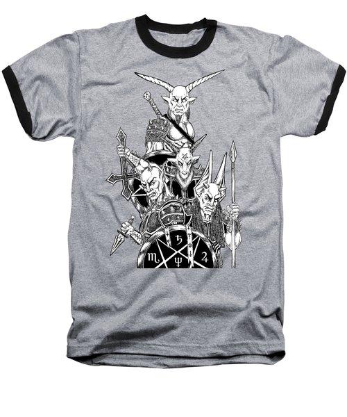The Infernal Army White Version Baseball T-Shirt