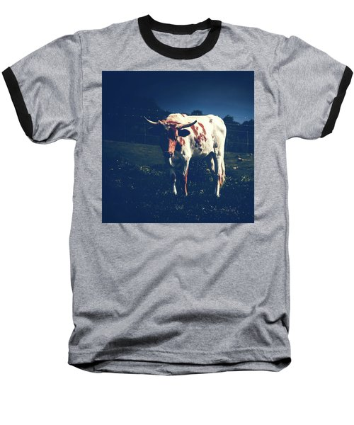 Baseball T-Shirt featuring the photograph Midnight Encounter by Sharon Mau