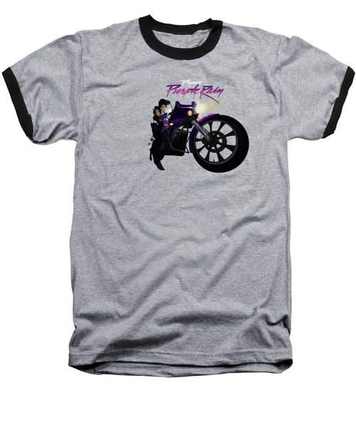 Baseball T-Shirt featuring the digital art I Grew Up With Purplerain by Nelson dedos Garcia
