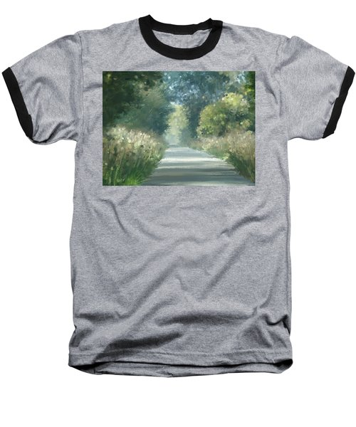 Baseball T-Shirt featuring the pastel The Road Back Home by Ivana Westin