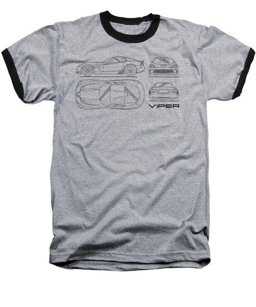 Srt Viper Blueprint Baseball T-Shirt