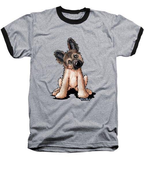 Curious Shepherd Puppy Baseball T-Shirt