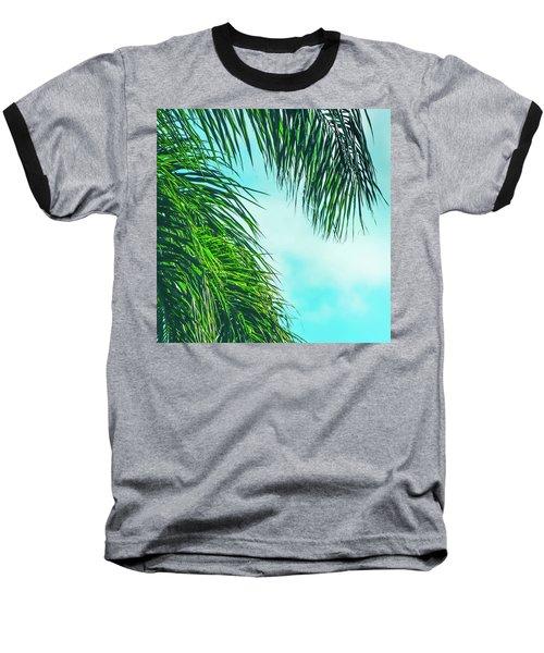 Tropical Palms Maui Hawaii Baseball T-Shirt by Sharon Mau