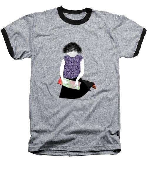 Her Picture Book Baseball T-Shirt by Asok Mukhopadhyay