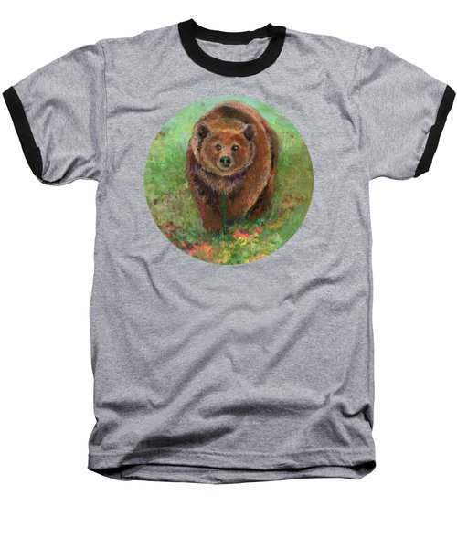 Grizzly In The Meadow Baseball T-Shirt